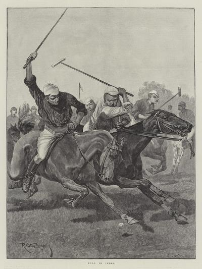 Polo in India-Richard Caton Woodville II-Giclee Print