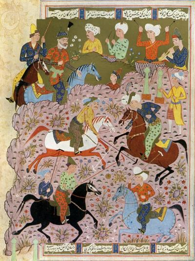 Polo in Persia in the 10th Century--Giclee Print