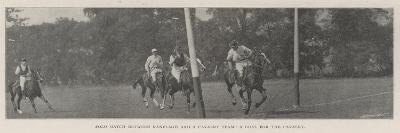 Polo Match Between Ranelagh and a Cavalry Team, a Goal for the Cavalry--Giclee Print