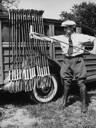 Polo Player Checking the Mallets-Alfred Eisenstaedt-Photographic Print