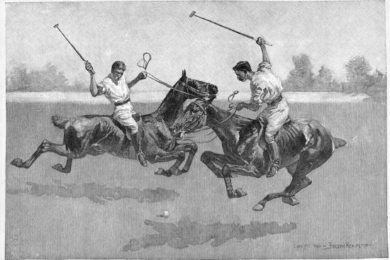 Polo Players, 1890-Frederic Remington-Giclee Print