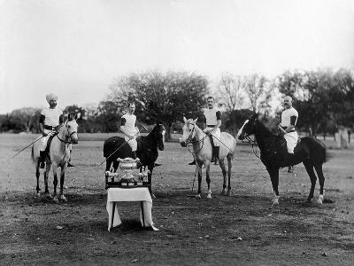 Polo Players in Andra Pradesh, South India-Raja Deen Dayal-Photographic Print