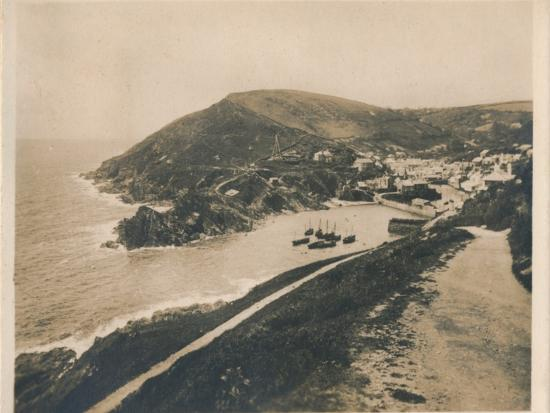 'Polperro from Talland Cliff Path', 1927-Unknown-Photographic Print