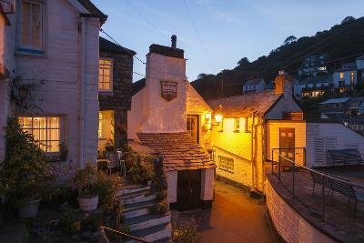 Polperro is a Village with Beautiful Ancient Houses along a Canal-Guido Cozzi-Photographic Print