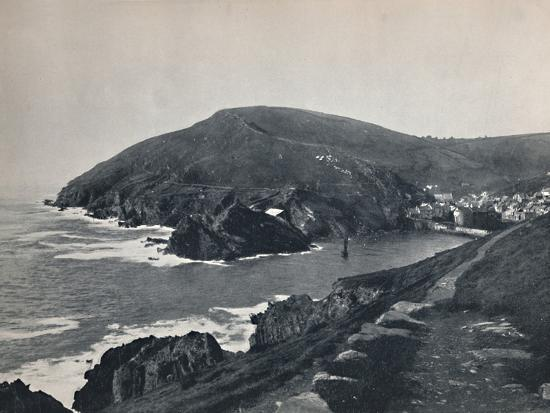 'Polperro - The Inlet and the Village', 1895-Unknown-Photographic Print