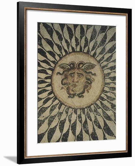 Polychrome Mosaic Floor Depicting Gorgon--Framed Giclee Print