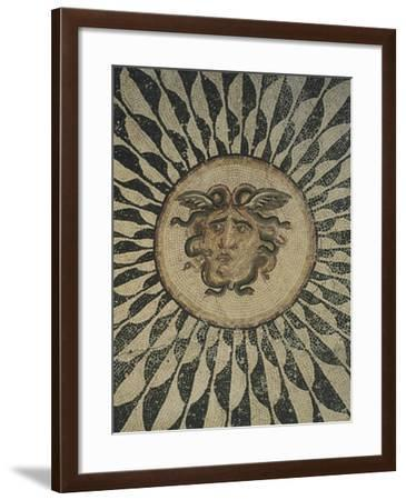 Polychrome Mosaic Floor Depicting Gorgon--Framed Giclee Print