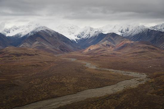 Polychrome Mountain range in Denali National Park, Alaska, United States of America, North America-JIA JIAHE-Photographic Print