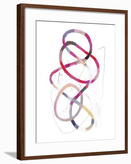 Polychrome Tangle I-Victoria Borges-Framed Art Print