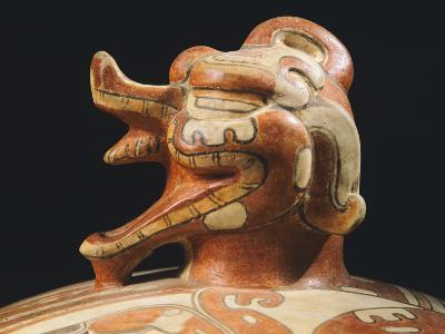 Polychrome Terracotta Container, Originating from Tikal--Giclee Print