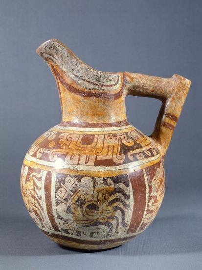 Polychrome Terracotta Jar Codex Type from Zaachila, Mexico--Giclee Print