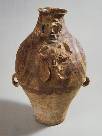 Polychrome Terracotta Vase, from Tsinghai--Giclee Print