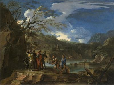 Polycrates and the Fisherman, C.1664-Salvator Rosa-Giclee Print