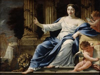 Polyhymnia, Muse of Eloquence, 17th Century-Simon Vouet-Giclee Print