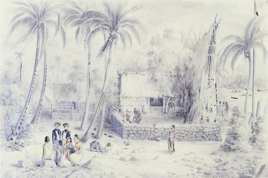 Polynesia, Scene of Everyday Life in Marquesas Islands-Michael Chase-Giclee Print