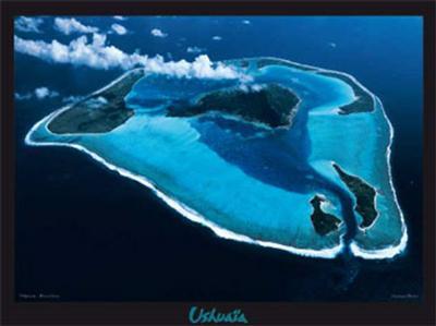 Polynesie, Bora-Bora-Georges Bosio-Art Print