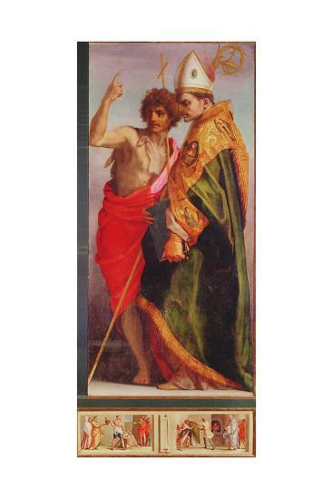 Polyptych from Vallombrosa Abbey, Detail of the Right Hand Side-Andrea del Sarto-Giclee Print