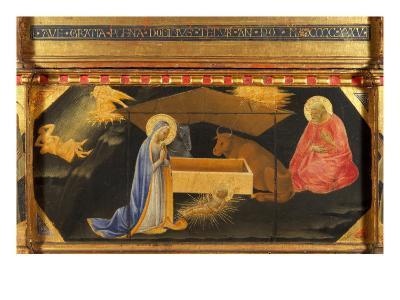 Polyptych, Predella, Nativity-Andrea Di Gusto-Giclee Print
