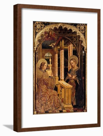 Polyptych with Annunciation and Saints-Mazone Giovanni-Framed Giclee Print