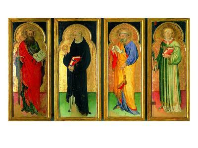 Polyptych with St Paul, St Nicholas of Tolentino, St Peter and St Lawrence--Giclee Print