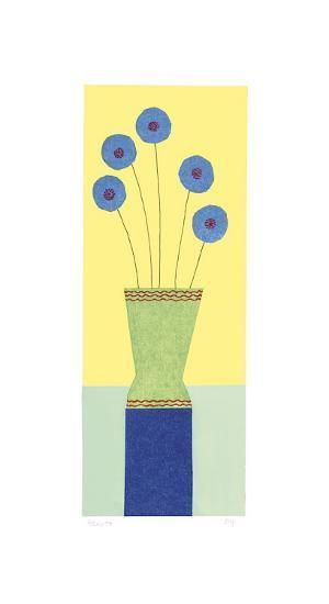 Pom-Pom Cornflowers-Hewitt-Giclee Print