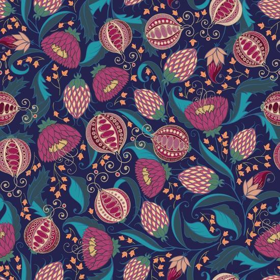 Pomegranate Pattern-Jallom-Art Print