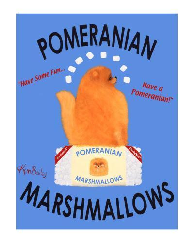 Pomeranian Marshmallows-Ken Bailey-Collectable Print