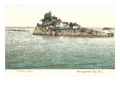 Pomham Lighthouse, Narragansett Bay, Rhode Island--Art Print