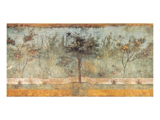 Pompeian Art, Garden Fresco I--Art Print
