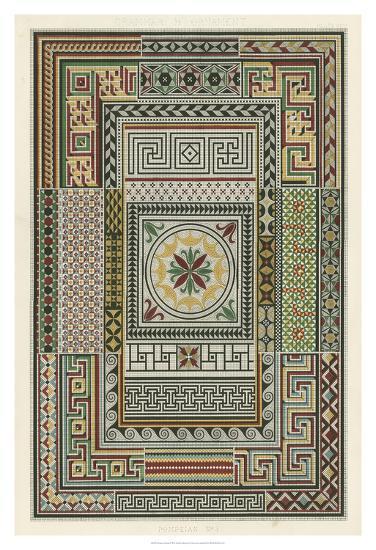 Pompeian Design-Owen Jones-Giclee Print
