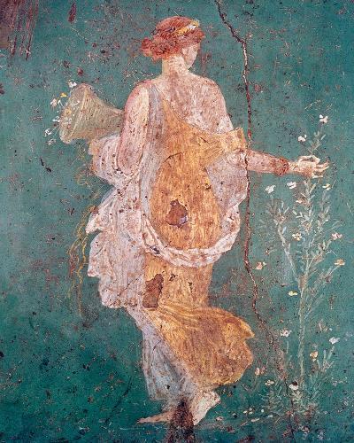 Pompeii Fresco II-The Vintage Collection-Giclee Print