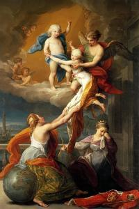 Allegory for the Death of Ferdinand IV's Two Children by Pompeo Batoni