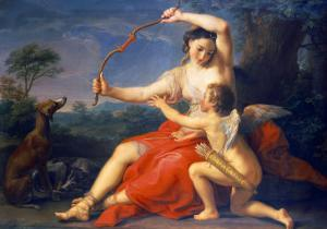Diana Breaking Cupid's Bow, 1761 by Pompeo Batoni