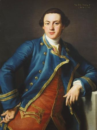 Portrait of Sir John Armytage, 2nd Bt. (1732-1758), in Blue Coat and Crimson Waistcoat