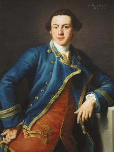 Portrait of Sir John Armytage, 2nd Bt. (1732-1758), in Blue Coat and Crimson Waistcoat by Pompeo Batoni
