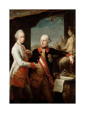 Emperor Joseph II with Grand Duke Pietro Leopoldo of Tuscany, 1769