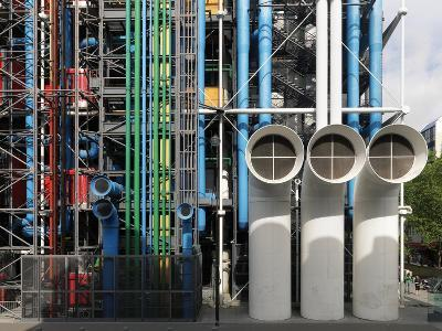 Pompidou Center in Paris-Ove Arup and Partners-Photographic Print