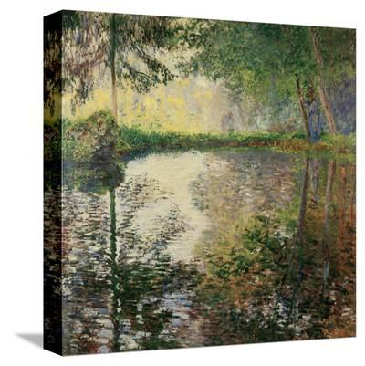 Pond at Montgeron, c.1876-Claude Monet-Stretched Canvas Print