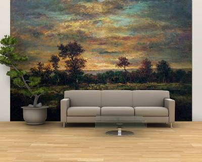 Pond at the Edge of a Wood-Th?odore Rousseau-Wall Mural – Large