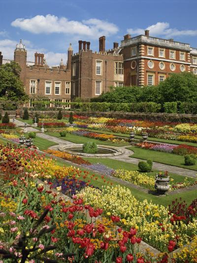 Pond Garden in the Palace Gardens, Hampton Court, London, England, United Kingdom, Europe-Harding Robert-Photographic Print