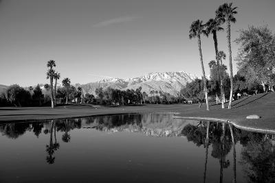 Pond in a golf course, Desert Princess Country Club, Palm Springs, Riverside County, California...--Photographic Print