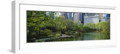 Pond in a Park, Central Park South, Central Park, Manhattan, New York City, New York State, USA--Framed Photographic Print