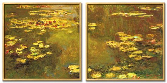 Pond of Waterlilies, 1919-Claude Monet-Framed Textured Art