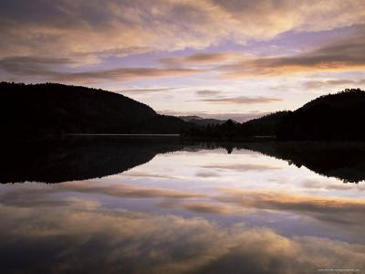 Pond Reflection and Clouds at Dawn, Kristiansand, Norway, Scandinavia, Europe-Jochen Schlenker-Photographic Print