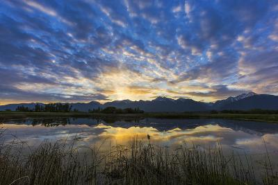 Pond Reflects the Mission Mountains, Ninepipe, Mission Valley, Montana, USA-Chuck Haney-Photographic Print