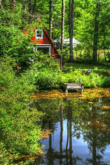 Pond Vertical with a Frame-Robert Goldwitz-Photographic Print