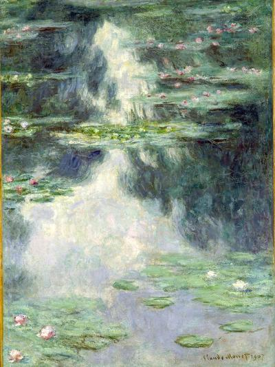 Pond with Water Lilies, 1907-Claude Monet-Giclee Print