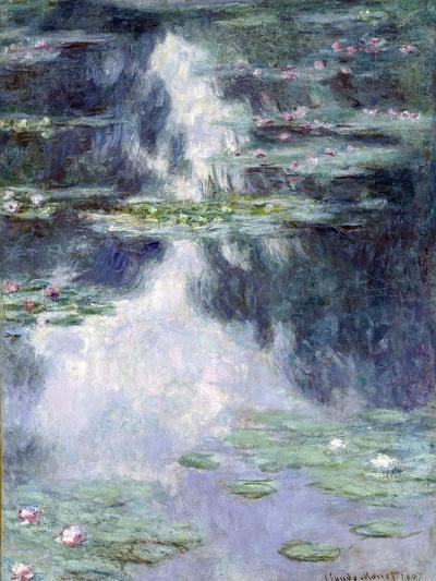 Pond with Water Lilies-Claude Monet-Giclee Print