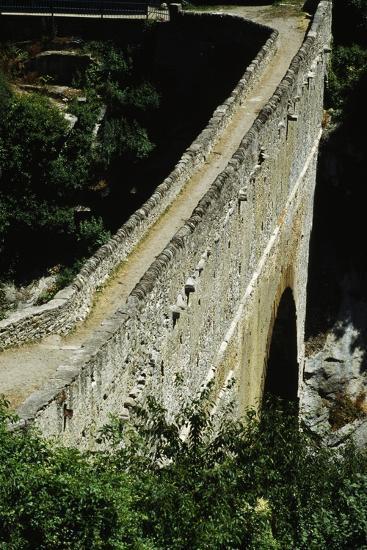 Pondel Bridge, Roman Aqueduct, Aymavilles, Valle D' Aosta, Italy BC--Giclee Print