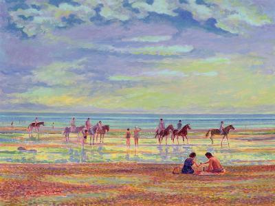 Ponies on Ferring Beach-Robert Tyndall-Giclee Print